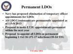 permanent ldos