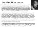 jean paul sartre 1905 1980