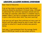 arguing against school uniforms