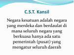 c s t kansil