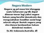 negara modern