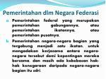 pemerintahan dlm negara federasi
