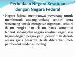 perbedaan negara kesatuan dengan negara federal