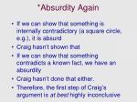absurdity again