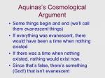 aquinas s cosmological argument