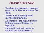 aquinas s five ways
