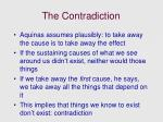 the contradiction