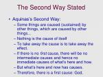the second way stated