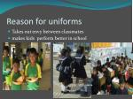 reason for uniforms