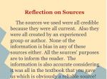 reflection on sources