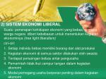 2 sistem ekonomi liberal