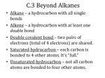 c 3 beyond alkanes
