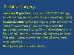 paliative surgery