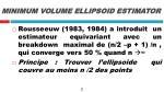 minimum volume ellipsoid estimator