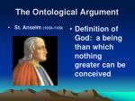 the ontological argument1