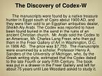 the discovery of codex w