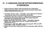 iv 5 landasan hukum sistem demokrasi di indonesia