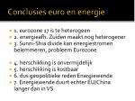 conclusies euro en energie