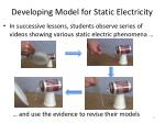 developing model for static electricity