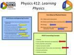 physics 412 learning physics