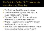 the spirit is called it therefore is not a person they say