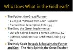 who does what in the godhead