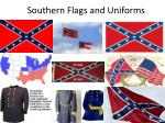 southern flags and uniforms