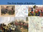 the first battle of bull run