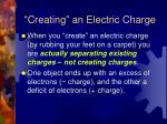 creating an electric charge