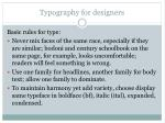 typography for designers55