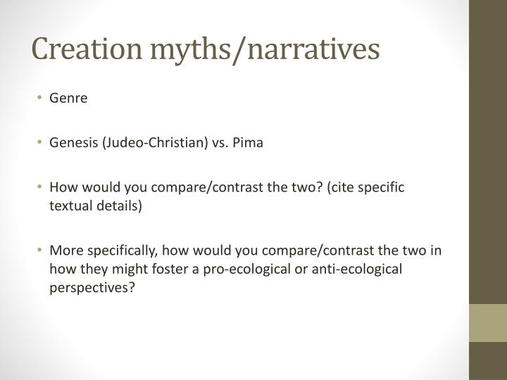 creation myths narratives n.