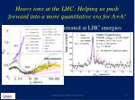 heavy ions at the lhc helping us push forward into a more quantitative era for a a