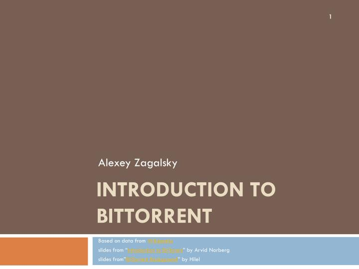 introduction to bittorrent n.