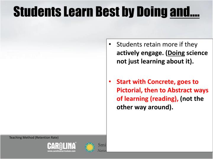 Students Learn Best by Doing
