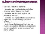 el ments d valuation curseur