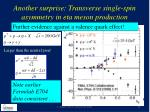 another surprise transverse single spin asymmetry in eta meson production