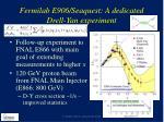 fermilab e906 seaquest a dedicated drell yan experiment