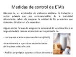 medidas de control de eta s1