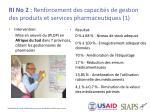 ri no 2 renforcement des capacit s de gestion des produits et services pharmaceutiques 1