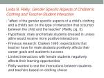 linda b reilly gender specific aspects of children s clothing and teacher student interaction