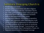 summary emerging church is