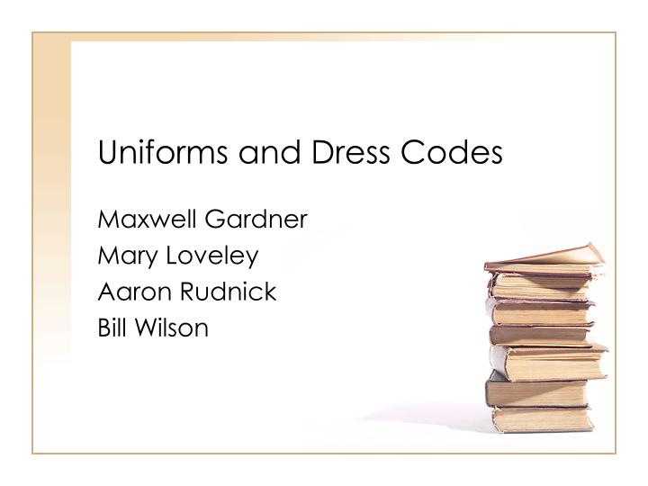 uniforms and dress codes n.