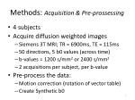 methods acquisition pre prossessing