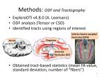 methods odf and tractography