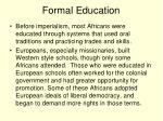 formal education