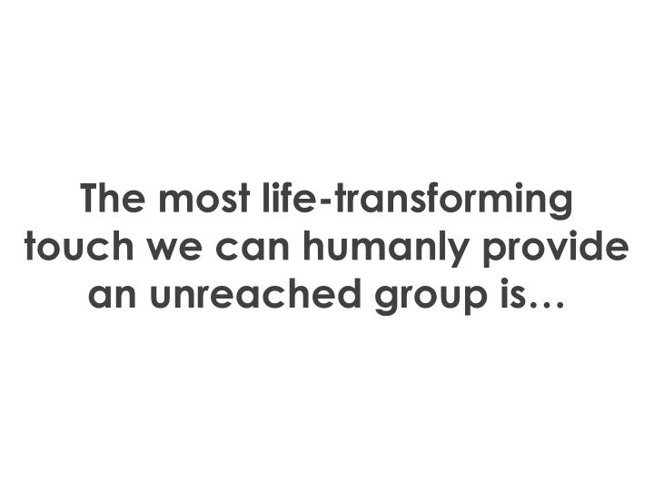 The most life-transforming