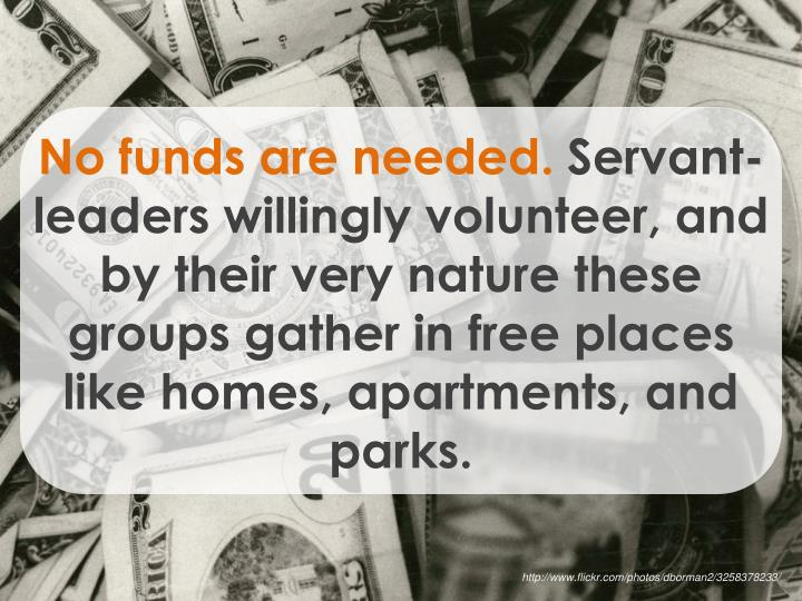 No funds are needed.