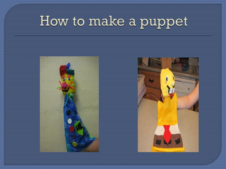 how to make a puppet n.