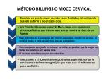 m todo billings o moco cervical