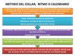 metodo del collar ritmo o calendario